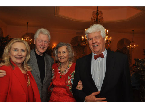 Bill and Hilary Clinton in Barbeta